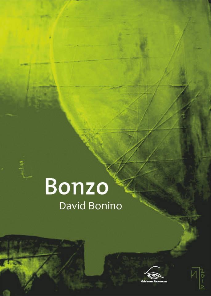 Portada de libro diseñada para el autor David Bonino. Dos colores.